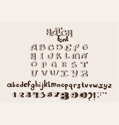 Hand drawn english alphabet letters vector