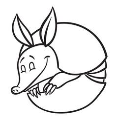 Funny armadillo vector