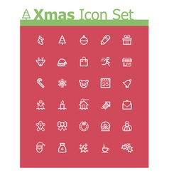 Xmas icon set vector