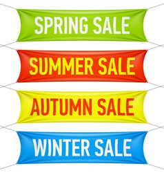 Spring summer autumn winter sale banners vector image