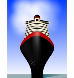Cruise liner vector image