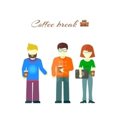 Business team on coffee break vector
