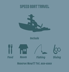 Speed boat advertise vector