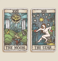 Tarot cards vector