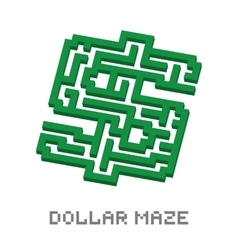 Dollar business isometric green maze vector