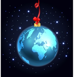 Abstract christmas ball of The Earth vector image vector image
