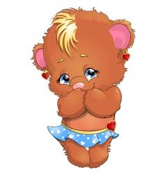 bear girl vector image