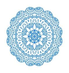 Blue doodle paisley mandala hand drawn pr vector