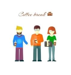 Business Team on Coffee Break vector image
