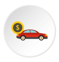 Buying car icon flat style vector
