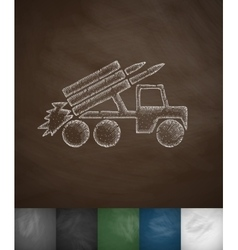 Carrier rockets icon vector