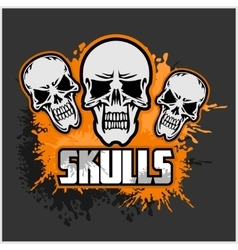 Cartoon skulls design vector image