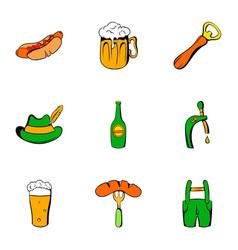 celebration icons set cartoon style vector image