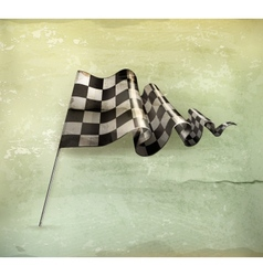 Checkered flag old-style vector