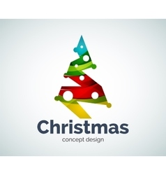 Christmas tree logo template vector