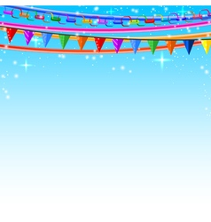 Colorful lace pins chains garlands vector image vector image