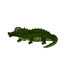 Crocodile with mesh coloring vector image vector image