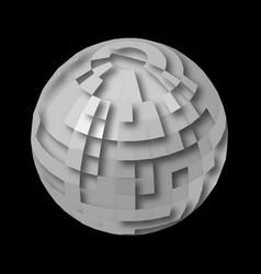 Crystal globe vector