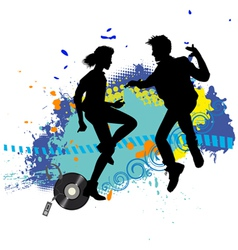 Dance and jumping vector image