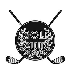 emblem of the golf clubgolf club single icon in vector image