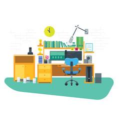 flat freelancer workspace vector image