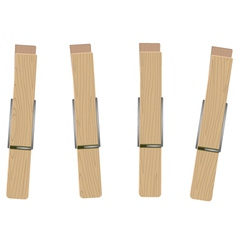 four clothespins vector image