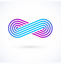 Infinity symbol five lines limitless icon logo vector