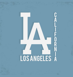 los angeles california typography monochrome vector image vector image