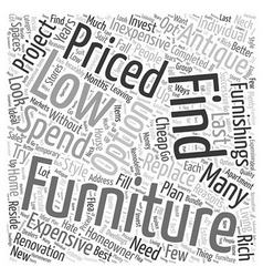 low priced furniture Word Cloud Concept vector image vector image