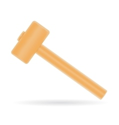 Mallet with wooden handle vector