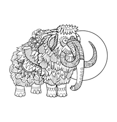 Mammoth coloring book vector image