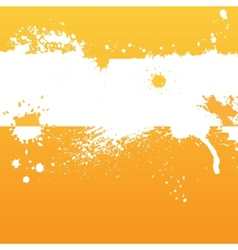 Orange ink background vector image