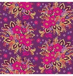 pattern bouquet violet vector image