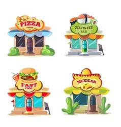 Pictures of food markets vector