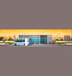 Purchase sale or rental center arab seller man vector