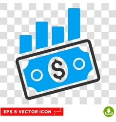 Sales bar chart eps icon vector