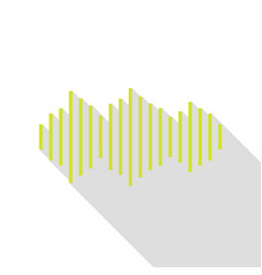 Sound waves icon pear icon with flat style shadow vector