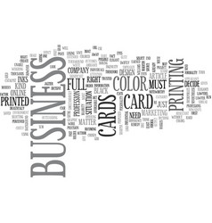 What business card are you in need of text word vector