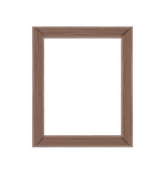 Wooden frame blank vector