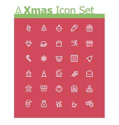 Xmas icon set vector image vector image