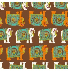 India elephant seamless pattern vector image