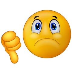 Dislike sign emoticon vector