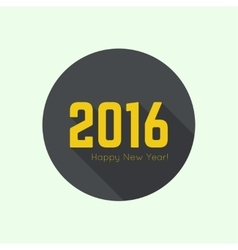 Creative happy new year 2016 vector