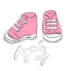 pair pink shoes vector image