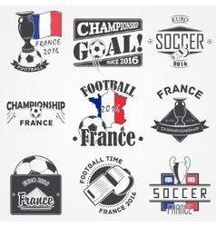 Football championship of france set soccer time vector