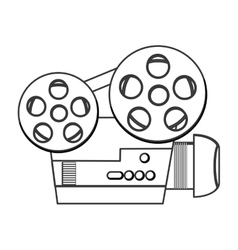 Classic film projector icon vector