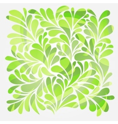 Abstract background with bright green curls and vector image vector image
