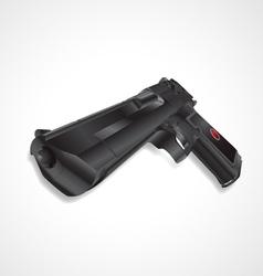 Black pistol handgun vector image vector image