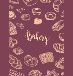Bread house price catalog cover vector