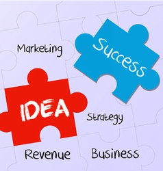 business plan and idea to success vector image vector image